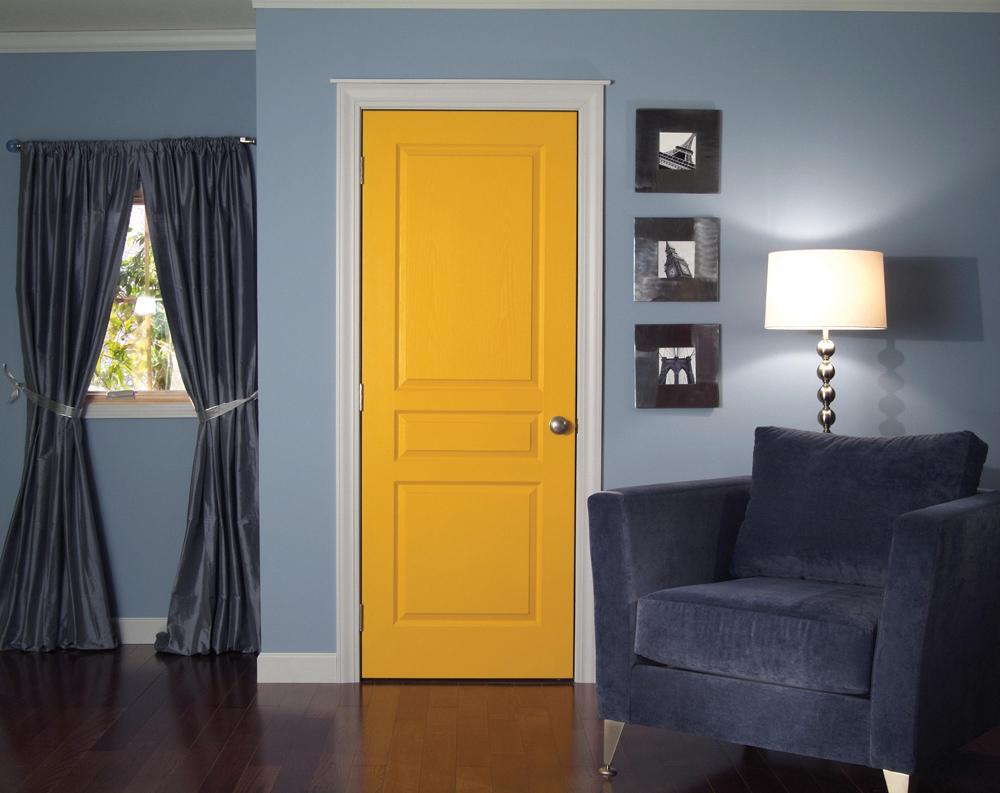 ������ ����� ٢٠١٥ ������� ����� apartments-charming-yellow-room-door-design-idea-with-white-border-blue-wall-black-photo-frames-dark-blue-sofa-and-white-floor-lamp-nice-room-door-design-ideas.jpg