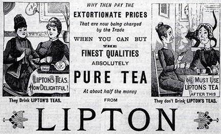 توماس جونستون ليبتون صاحب العلامه