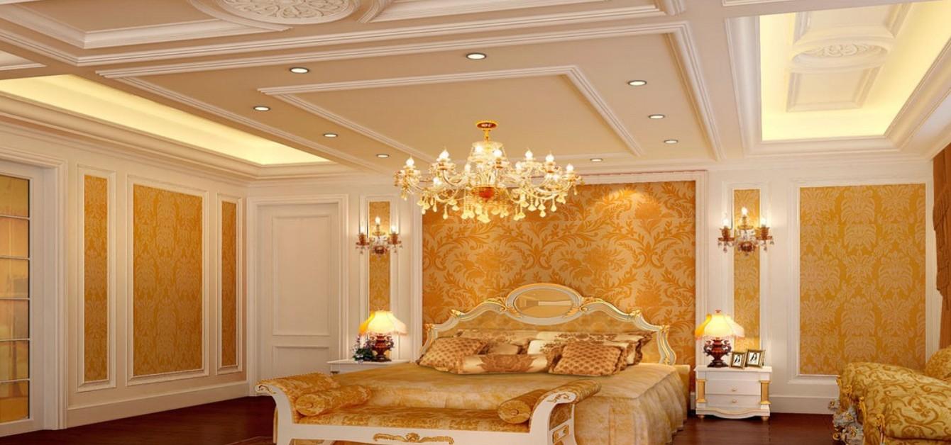 غرفة نوم أبيض في ذهبي | المرسال