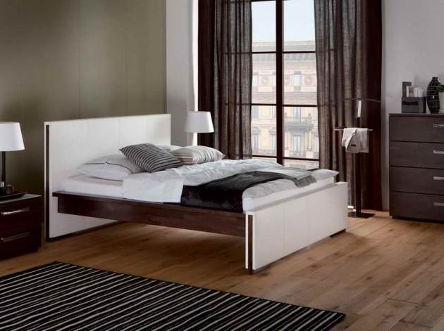 ارضيات خشبية بغرف نوم موردن | المرسال