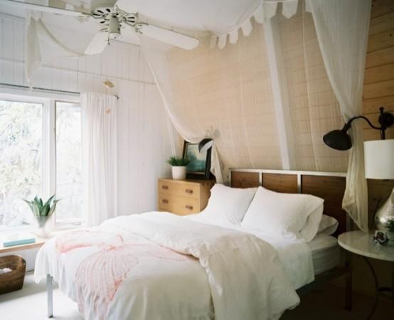 ستائر ناعمة لغرف نوم بألوان فاتحة المرسال