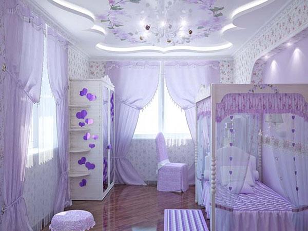 غرف نوم بنات ساحرة باللون البنفسجي | المرسال