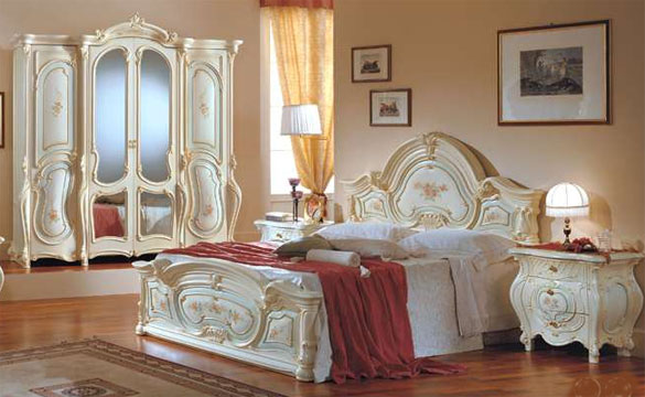 : غرف نوم كلاسيك ايطالى : غرف