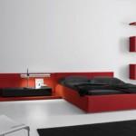 غرفة نوم مودرن كشخة باللون الاحمر - 98160