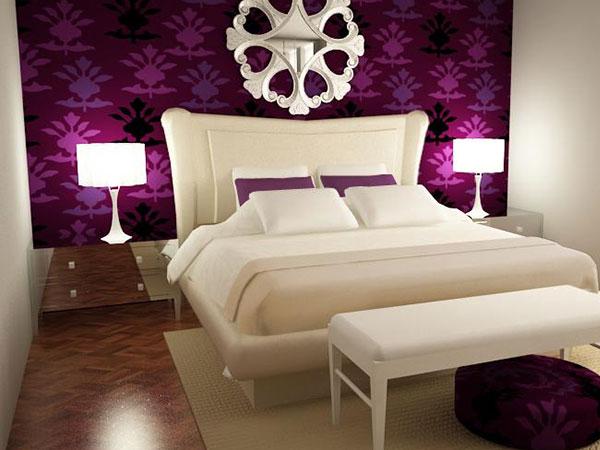 اروع تصاميم غرف النوم باللون البنفسجي | المرسال