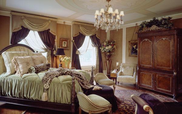 نجف غرف نوم طراز قديم بلونها المذهب | المرسال