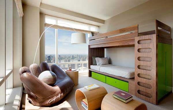 ������ ���� ���� ٢٠١٤ Bunk-Beds-modern-urban-style-green-wardrobe.jpg