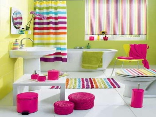 ������ ������� ���� ����� ���� Colorful-Basement-Bathroom-Renovation-with-Striped-Curtain-and-Carpet-Ideas.jpg