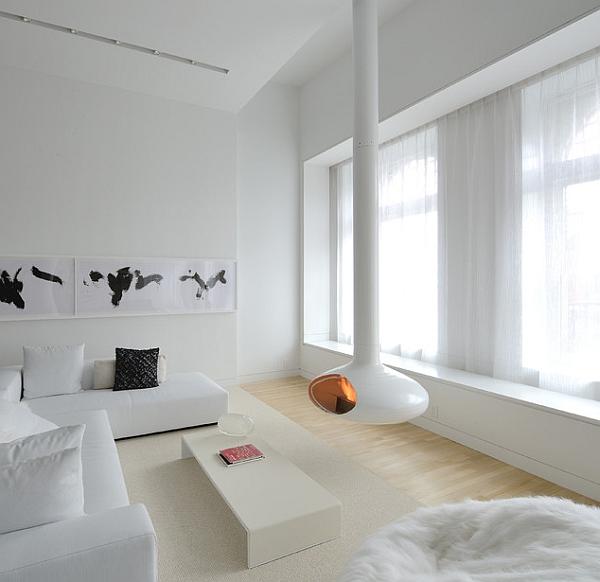 54 Amazing All White Bedroom Ideas: Amazing Living Room Design
