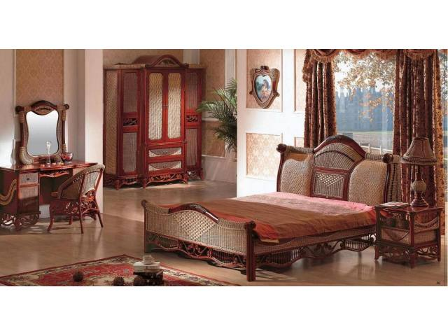 Luxury Rattan Bedroom Furniture Set Jpg