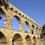 ���� ����� � ������ ��� ������ Pont-du-Gard-Bridge-