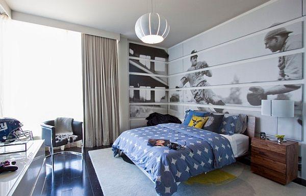 اللون الازرق بغرف نوم الاولاد المراهقين
