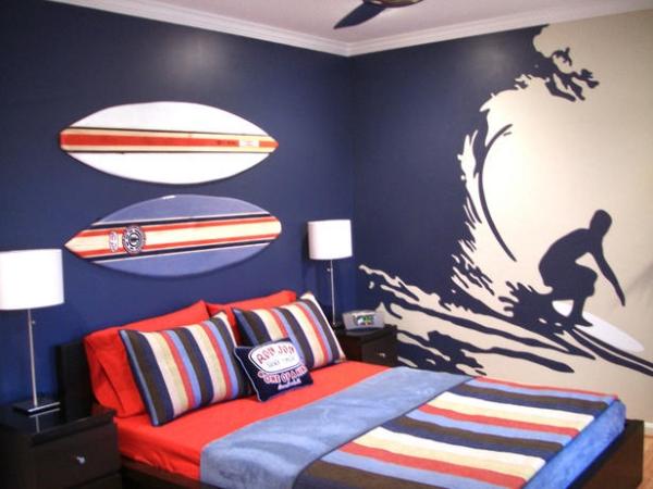 تصميم غرفة نوم سن المراهقة للاولاد