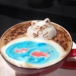رسومات ثلاثية الأبعاد على القهوة