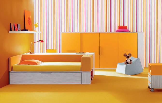 احدث افكار غرف نوم بنات ملونة | المرسال