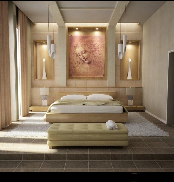 ديكورات غرف نوم كشخة باللون البيج | المرسال