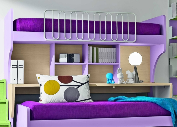 ������ ���� ���� ٢٠١٤ bunk-beds-for-kids-purple-design-accent-color.jpg
