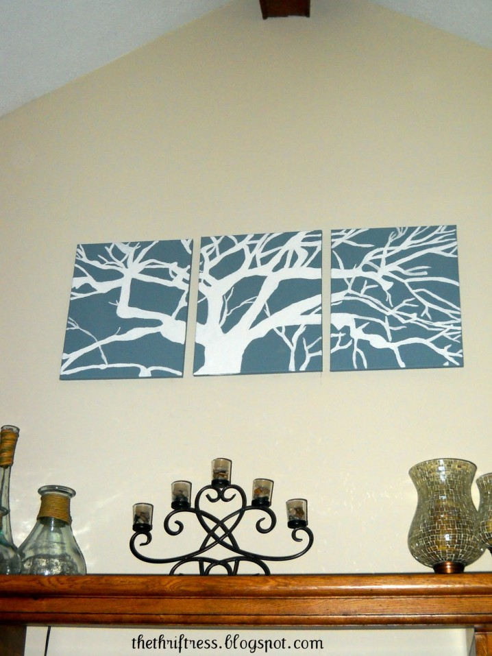 ����� ����� ����� ������ ٢٠١٤ cool-diy-blue-canvas-tree-white-silhouette-wall-canvas-art-decorative-posters.jpg