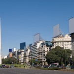 9 de Julio Avenue and The Obelisk a major touristic destination in Buenos Aires, Argentina - 110537
