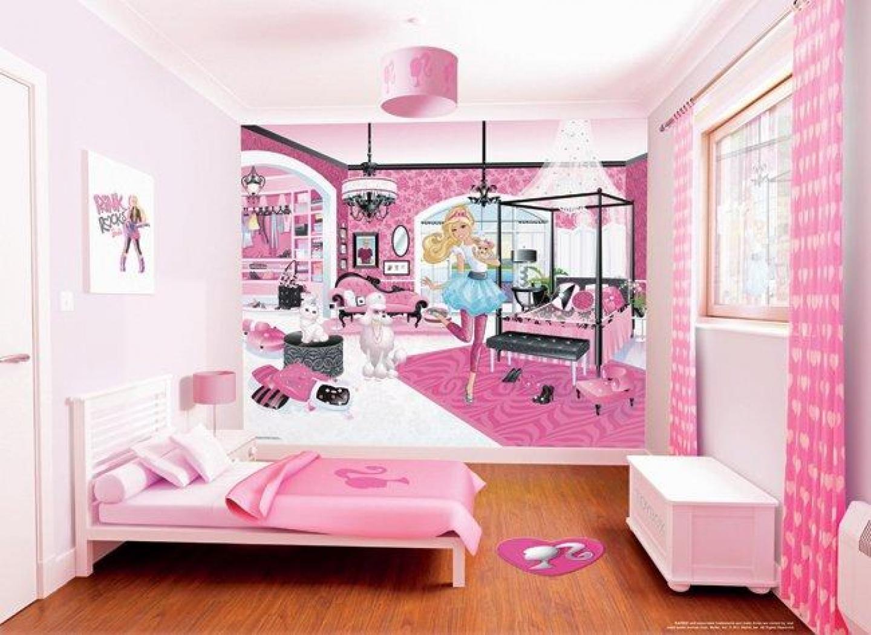 جدران مميزة بغرفة نوم بنات باربي | المرسال