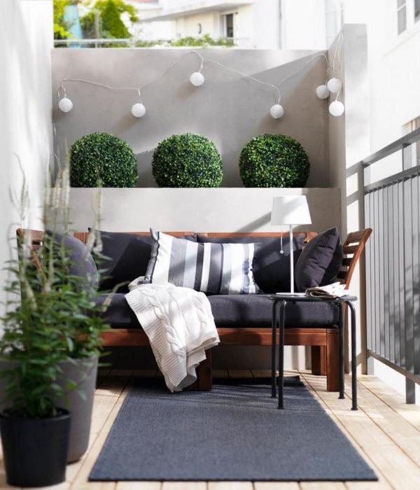 Exterior Small Home Design Ideas: اللون الرمادي للبلكونة بالمنزل