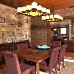 اضاءة مبتكرة لغرف الطعام