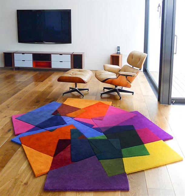 اجمل سجاد غرف الجلوس بألوان زاهية | المرسال