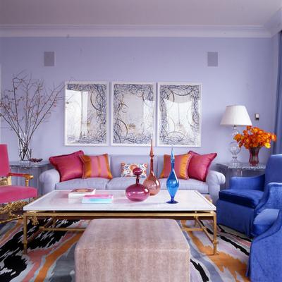 Drake Design Colorful living room تصميم وسائد حديثة   صور خداديات الوان مختلفة
