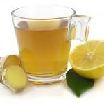 شاي زنجبيل مع ليمون