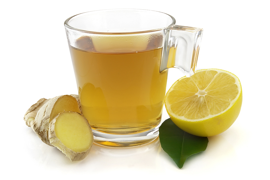 الزنجبيل Ginger-tea-and-lemon