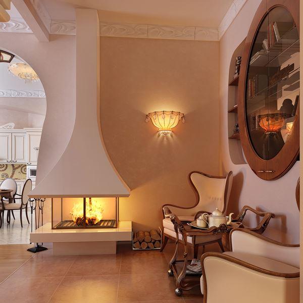 اللون الاضفر لاضاءة جدران غرف الجلوس   المرسال