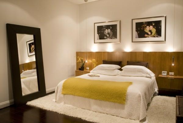 خلفية لسرير غرف النوم باللون البني | المرسال
