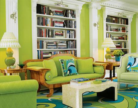 colorful green living room تصميم وسائد حديثة   صور خداديات الوان مختلفة