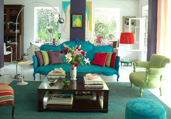 colorful living room inspirations 12 تصميم وسائد حديثة   صور خداديات الوان مختلفة