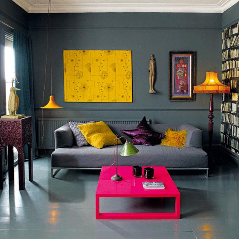 colorful living rooms تصميم وسائد حديثة   صور خداديات الوان مختلفة