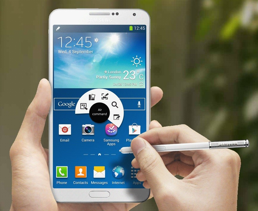 4 Samsung Galaxy Note