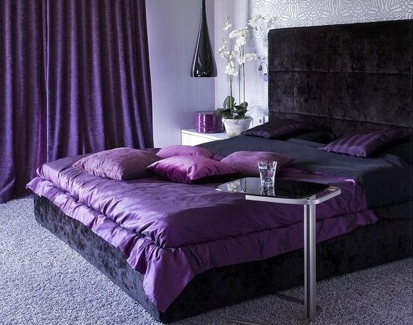 غرف نوم باللون الارجواني | المرسال