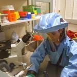 باحث يعمل على فيروس الإيبولا - 145646