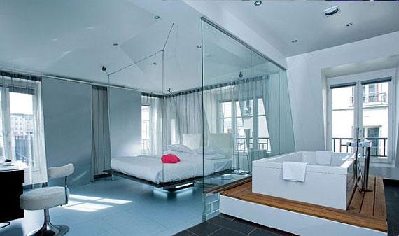 احدث غرف نوم زجاجية مدهشة  المرسال