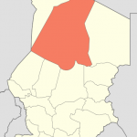 Locator map of the administrative region of Borkou in Chad as after the 2008-02 reform - 148454