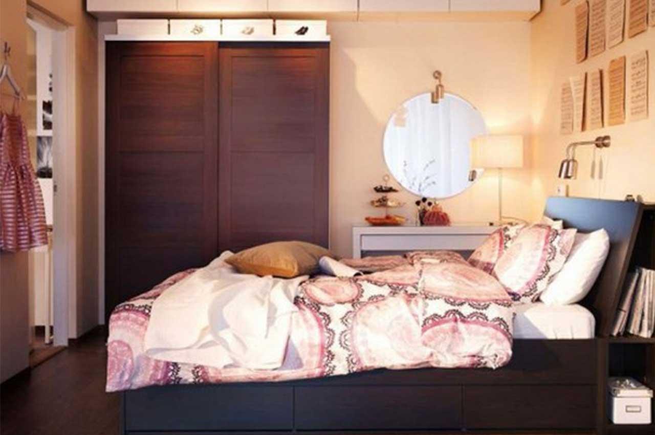 غرفة نوم صغيرة من ايكيا | المرسال