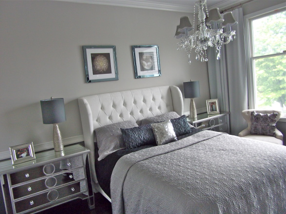 White And Silver Bedroom Furniture Images