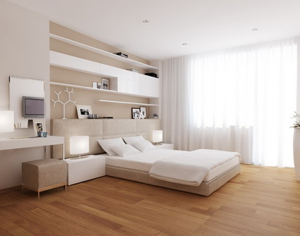 simple modern house interior bedroom