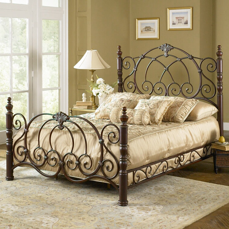 wrought iron bedroom غرف نوم بسرير حديد مشغول