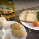 مكونات شوربة البطاطس
