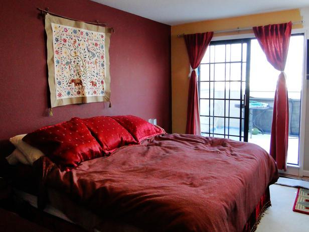 غرف نوم عنابي وبيج | المرسال