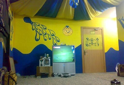 جدران بالوان فريق النصر روعة | المرسال