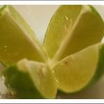 تقطيع الليموة الى ارباع