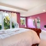 الابيض والوردي بغرف النوم الكبيرة  - 152848