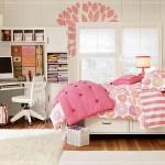 ارضية باركيه بغرف النوم الوردي  - 152850
